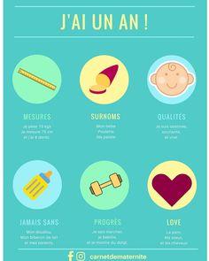 Infographie pour les un an de bébé... A imprimer en format poster ou en A5 pour son #bujo !