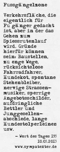 Fussgängelzone - www.sympatexter.de