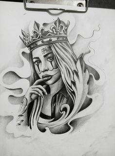 tattoos of women Chicano Tattoos, Chicano Drawings, Gangsta Tattoos, Kunst Tattoos, Dope Tattoos, Tattoo Design Drawings, Tattoo Sketches, Art Sketches, Tattoo Designs