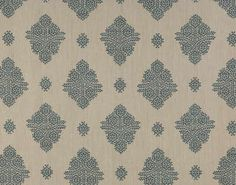 Pierre Frey Erevan in cyan Pierre Frey Fabric, Rustic Fabric, Fabric Wallpaper, Repeating Patterns, Printing On Fabric, Home Accessories, Print Patterns, Textiles, Prints