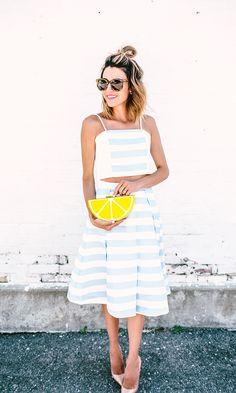 Stripe Matching Set