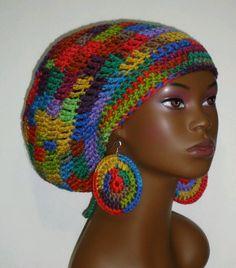 96196c59035 Color Explosion Crochet Rasta Hat Tam Cap and by razondalee