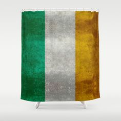National flag of the Republic of Ireland - Vintage Version Shower Curtain by LonestarDesigns2020 - Flags Designs + - $68.00