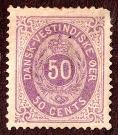 Danish West Indies SC 13a gray violet perf 14 x 13½  MH OG W'mrk Crown 1874-79