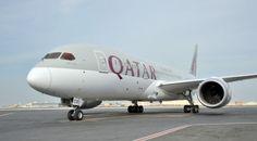 The new Qatar Airways Boeing 787 Dreamliner.