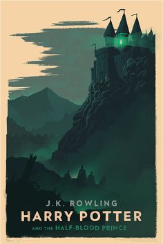 Olly Moss Harry Potter and the Half-Blood Prince poster Harry Potter Poster, Harry Potter Book Covers, Mundo Harry Potter, Harry Potter Universal, Harry Potter World, Rowling Harry Potter, Hogwarts, Olly Moss, Desenhos Harry Potter