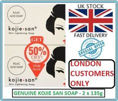 Genuine Kojie San Kojic Acid Skin Lightening Soap 2 x 135g