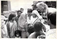 Jean Vanier and Mother Teresa in India, in