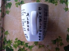 Items similar to Mug with Albus Dumbledore quotes on Etsy Dumbledore Quotes, Mugs, Unique Jewelry, Tableware, Handmade Gifts, Etsy, Kid Craft Gifts, Dinnerware, Tumblers