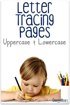 Looking for some great letter tracing activities for your little ones? These are a great addition to your kiddos letter practice! Letter Tracing Pages Uppercase and Lowercase   adiligentheart.com