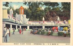West View Park:Pittsburgh's other amusement park. Pennsylvania History, Three Rivers, Best Places To Live, Pittsburgh Pa, Best Cities, Back In The Day, Abandoned Places, Newcastle, Vintage Images