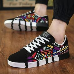 Brand Men Casual Shoes Breathable Canvas Shoes Men Lace-up Print Comfortable Espadrilles Fashion Sneakers Men Flats Footwear Hot Summer Sneakers, Casual Sneakers, Casual Shoes, Men Casual, Colorful Sneakers, Chunky Sneakers, White Canvas Shoes, Mens Canvas Shoes, Mens Fashion Shoes