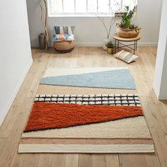 Sieren Rug LA REDOUTE INTERIEURS We love the 'mixed media' look created by this Sieren rug, which is available in a range of sizes to brighten up rooms of all types. Home Furnishing Accessories, Home Furnishings, 230, Boho Living Room, New Room, Decorative Objects, Modern Interior, Interior Design, Jute