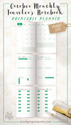 So many colours and options. You get a weekly planner, monthly, and daily all in this lovely monthly TN pocket insert. With 4 colours included to choose from you'll be tickled pink (or blue, or grey, or green for that matter) because you can choose exactly what suits you.