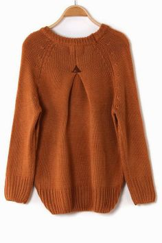 Back Pleat Sweater  (could do this to an old large sweater)