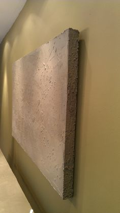 LARGE ultralightweight Concrete Art by BuiltConcrete on Etsy, $450.00