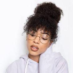 Natural Hair Guide - Part 8 - Hair Care Natural Hair Bangs, Natural Curls, Natural Hair Care, Curly Bangs, 4a Natural Hair Styles, Natural Black Hair, Curly 3c, Curly Afro, Natural Hair Styles For Black Women