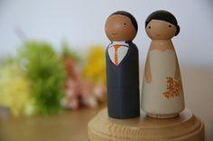 Peg dolls cake topper weddings, anniversary or home decor / topo de bolo para casamento, aniversario e decoracao on Etsy, $50.00