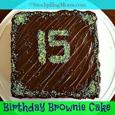 Lindsay Ann Bakes SingleServing Birthday Brownie For One