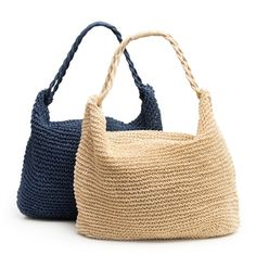 Crochet Straw Tote // Great gifts for mom! Mother's Day is May 13th.