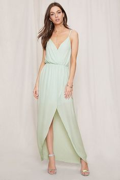 96da6618760 Pretty By Rory Surplice Dress. Drape Maxi ...