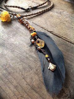 Bijoux plumes, amérindien, style boho