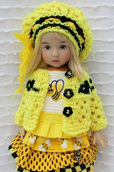 """Spring Bee Outfit Mix & Match 7PC Set For 13"""" Effner Little Darling by Barbara #DiannaEffner"""