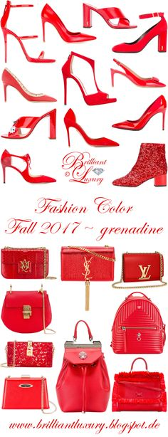Brilliant Luxury by Emmy DE ♦ Fashion Color Fall 2017 ~ grenadine