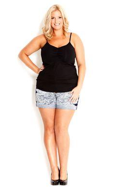 Women s plus size dress shorts