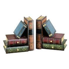 Serre-livres avec tiroirs cachés