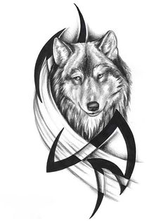 Indian Feather Tattoos | Wolf Tattoos Tribal Picture