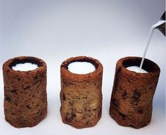 Milk and Cookie Shots -19 Impossibly Fun Shot Glasses You Can Eat