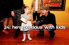 Brian Littrell - He's precious with kids.