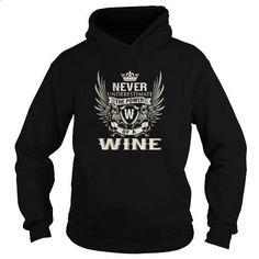 WINE W - #teens #wholesale hoodies. I WANT THIS => https://www.sunfrog.com/LifeStyle/WINE-W-Black-Hoodie.html?id=60505