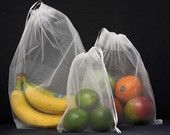 I love watching people at Wholefoods with their little reusable produce bags. I should get me some of these