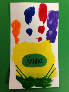 Crayon box made with their handprints