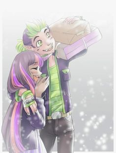 This is my favorite. Humanized Spike and Twilight