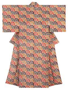 芹沢銈介 竹波文着物(1949) Kimono Style, Kimono Fashion, Japanese Art, Dresses With Sleeves, Traditional, Long Sleeve, Pattern, How To Wear, Crafts