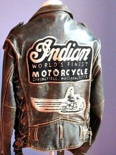 RESERVED FOR DEREK Vintage Authentic Indian Brown Leather Motorcycle Jacket. This Jacket is in good vintage condition. Vintage Bikes, Vintage Motorcycles, Cars And Motorcycles, Concept Motorcycles, Brown Leather Motorcycle Jacket, Motorcycle Gear, Leather Jackets, Motorcycle Jackets, Motorcycle Accessories