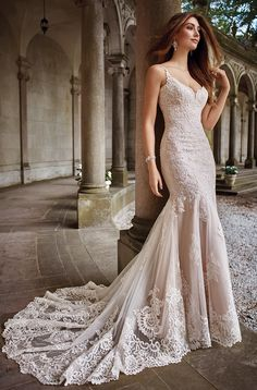 Wedding gown by David Tutera for Mon Cheri.