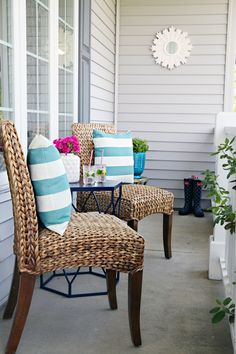 IHeart Organizing: A Mini Front Porch Refresh