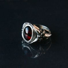 Hey, I found this really awesome Etsy listing at https://www.etsy.com/listing/261988524/red-garnet-sterling-silver-handcarved
