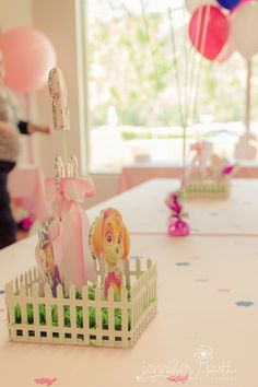 Pink & Blue Paw Patrol Birthday Party via Kara's Party Ideas | The Place for All Things Party! KarasPartyIdeas.com (17)