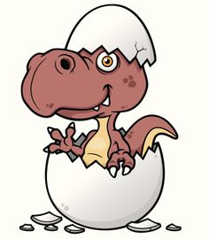 Bebê dinossauro dos desenhos animados - ilustração do vetor