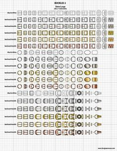 Vector Garment Accessories $24.95 -  Vector Belt Buckles - scaled to fit our Mix & Match Fashion Sketch Templates!