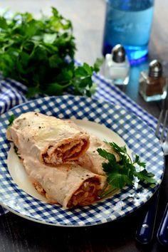 Szénhidrátszegény hortobágyi húsos palacsinta recept Spanish Food, Spanish Recipes, Hungarian Recipes, Camembert Cheese, Steak, Pancakes, Cukor, Pork, Turkey