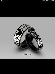 Perfect wedding bands for Mickey Mouse lovers.