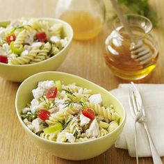 Pasta Salad with Chicken - Ready in 15 minutes when you use rotisserie chicken