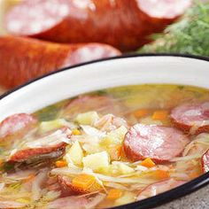 Kielbasa and Cabbage Soup - Recipe.com