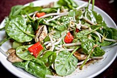 Spinach and Sprout Salad with Balsamic Vinaigrette